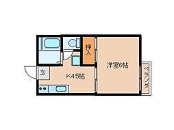 東京都大田区大森東3丁目の賃貸アパートの間取り