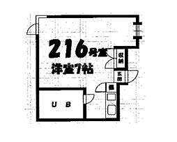 ハウス染殿2[216号室号室]の間取り