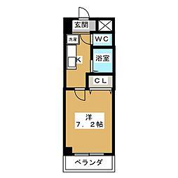 ソレイユ東海通[3階]の間取り