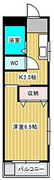 パレ・ド・ルベ新松戸[2階]の間取り