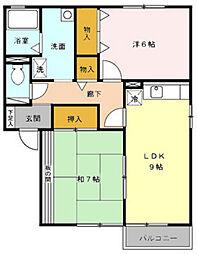 セリエ B棟[2階]の間取り