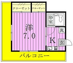 上田コーポ[307号室]の間取り