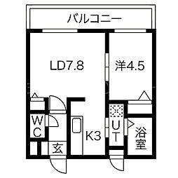 北テラス[2階]の間取り