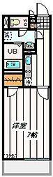 東武野田線 大宮公園駅 徒歩7分の賃貸マンション 1階1Kの間取り