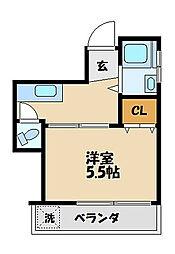 中山ビル[3階]の間取り