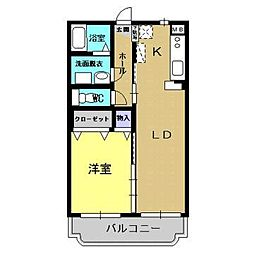 ユーミーLife2[2階]の間取り