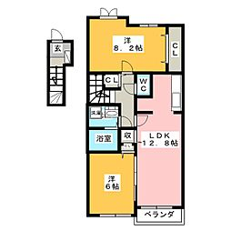 ピース・エテルナ B[2階]の間取り