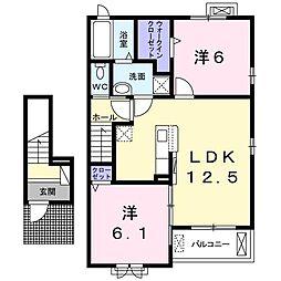 メゾン・ベールC[2階]の間取り