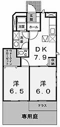 コートヤードB[2階]の間取り