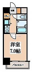 リーガル上本町[7階]の間取り