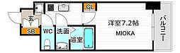 サムティ阿倍野昭和町 2階1Kの間取り
