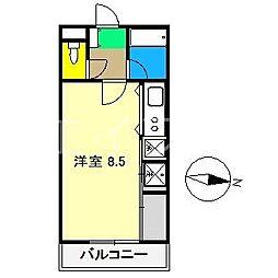 ウエストグランコート[2階]の間取り