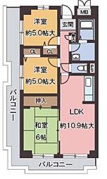 オルテンシア神戸[2階]の間取り