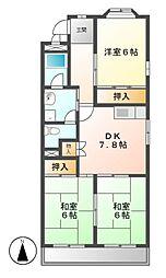 アネックス栄2[2階]の間取り