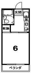 京都府京都市東山区東橘町の賃貸アパートの間取り