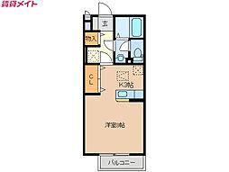 近鉄鈴鹿線 平田町駅 徒歩27分の賃貸アパート 1階1Kの間取り