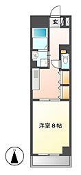 愛知県名古屋市中川区柳瀬町1丁目の賃貸マンションの間取り