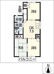 メゾンマリールB[1階]の間取り