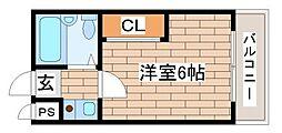 兵庫県神戸市長田区浪松町5丁目の賃貸マンションの間取り