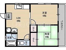 清原マンション[5階]の間取り