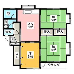 メゾンサトウ[2階]の間取り