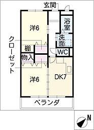 岡部ビル[2階]の間取り