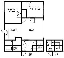 9−22 2戸借家[2号室]の間取り