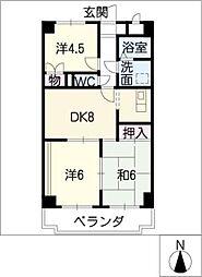 JOY CITY OHARU[3階]の間取り