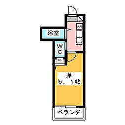 サンコート江古田 2階1Kの間取り