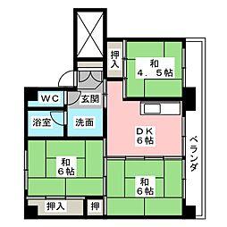 ビレッジハウス川辺1号棟[2階]の間取り