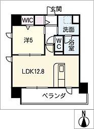 仮)千種区東山通一丁目プロジェクト 8階1SLDKの間取り