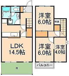 [テラスハウス] 東京都足立区一ツ家4丁目 の賃貸【/】の間取り