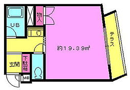 ラ・トゥール守口 2階ワンルームの間取り