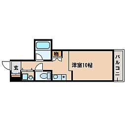 JR山陽本線 西明石駅 徒歩7分の賃貸マンション 8階ワンルームの間取り