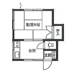 一栄荘[101号室]の間取り