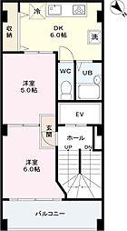 第15大協ビル[6階]の間取り