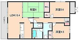 ロイヤルパティオ矢野第三マンション[305号室]の間取り