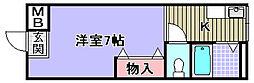 ブルーム和泉[203号室]の間取り