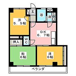 エクセルコート[3階]の間取り