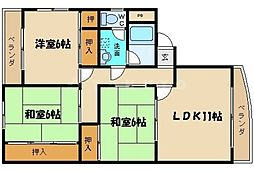 三幡ビル[2階]の間取り