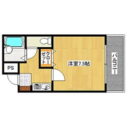 エトワール桃山(京町)[3階]の間取り