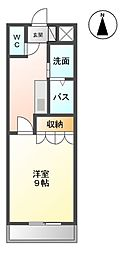 JR長崎本線 肥前麓駅 徒歩16分の賃貸アパート 2階1Kの間取り