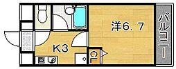 大阪府吹田市泉町3丁目の賃貸マンションの間取り