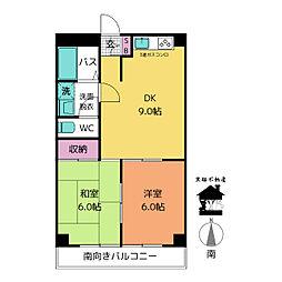 愛知県名古屋市東区飯田町の賃貸マンションの間取り