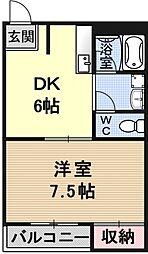 レジデンス山本2[106号室号室]の間取り