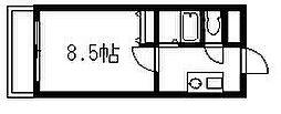 エース弐番館[605号室]の間取り