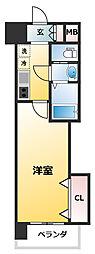 Luxe新大阪EAST2 9階1Kの間取り