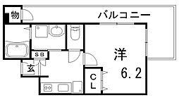 ときわ六甲レクラン[4階]の間取り