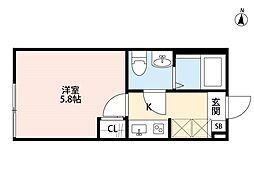 ellie梅島(エリーウメジマ)[2階]の間取り
