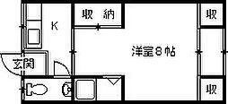 高橋コーポ[6号室]の間取り